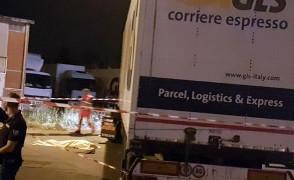 Ein vergleichbarer LKW fuhr am 15.9.2016 einen GLS Streikposten in Piacenza tot