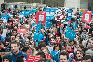 Umsonst demonstriert: Assistenzärzte in London am 16.8.2016