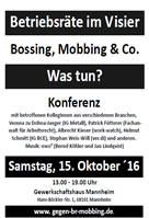 """[15. Oktober 2016] 3. bundesweite Konferenz """"Betriebsräte im Visier"""""""