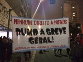 Brasilien: CUT-Plakat für Generalstreik bei den Demonstrationen am 22.9.2016