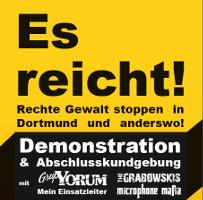 Es reicht! Rechte Gewalt stoppen in Dortmund und anderswo! Demo am 24. September 2016