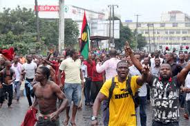 Nigeria: Demonstration in Lagos im Juli 2016 gegen Inflation