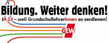 """GEW: """"JA13 für alle Lehrkräfte!"""