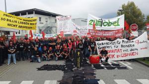 Streik bei Zumtobel in Usingen seit 1.9.2016