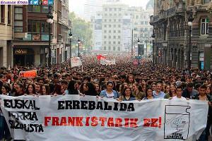 Bildungsstreik Demo in Bilbao am 26.10.2016