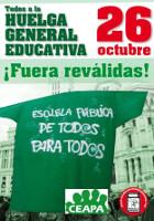 Streikplakat für den 26.10.2016 des spanischen Elternverbandes Ceata