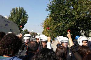 Ankara, 10. Oktober 2016: Gedenken (sendika.org)