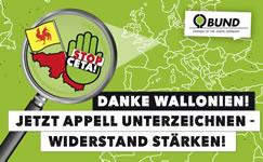 BUND: Wir stellen uns hinter die Wallonen! NEIN ZU CETA!