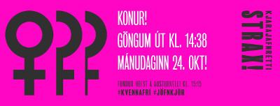 Frauenstreikplakat Island 24.10.2016