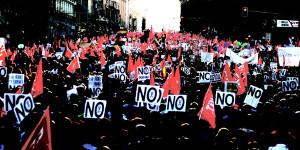 Demonstration gegen Verfassungsreform in Rom am 15.8.2016