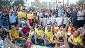 Türkei: Protest gegen Lehrerentlassungen. Hier: Samandag/ Hatay, 14. Oktober 2016