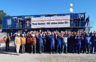 Baufirma Strasser: Tavus Qurban – Wir stehen hinter Dir!
