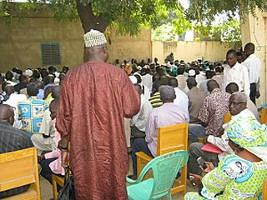 Streikversammlung im Tschad Öffentlicher dienst  am 16.10.2016