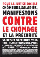Gewerkschaftsaufruf zum Protesttag gegen Armut in Frankreich am 3.12.2016