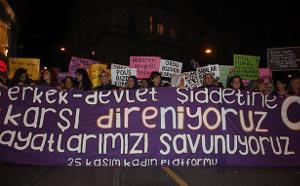 Ob männlich oder staatlich - Frauen gegen Gewalt! Hier: Istanbul, November 2016 (sendika.org)