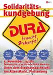 Kundgebung für den Erhalt der DURA-Werke im Sauerland  am Samstag, 5.11.2016