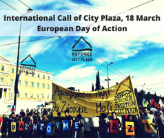 In the gloomy sky of Europe, Resistance is the shining light - City Plaza ruft zu europäischem Aktionstag am 18. März 2017 auf