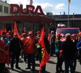 IG Metall-Kundgebung für den Erhalt der DURA-Werke in Plettenberg im Mai 2016