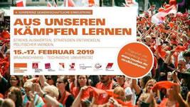 [15.-17.2.2019 in Braunschweig] 4. Konferenz gewerkschaftliche Erneuerung: Aus unseren Kämpfen lernen, Streiks auswerten, Strategien entwickeln, politischer werden.