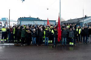 Göteborg: größter Hafen Skandinaviens wird bestreikt (November 2016, Hamn4an)