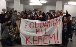 Solidaritätmit KeremSchamberger - hier: aus der Schweiz (Okt. 2016)