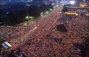 Korea 12.11.2106: One million candlelight vigil calling for democracy