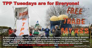 5 Jahre lang jeden Dienstag Protest gegen TPP quer durch die USA