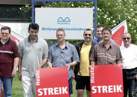 Mahnwache am insolventen Wellpappe-Werk in Gelsenkirchen. Foto: Jürgen Seidel (www.juergen-seidel.de) - wir danken!