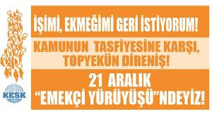 KESK Plakataufruf zum Marsch nach Ankara ab 21.12.2016