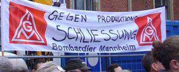 Bilder von der Kundgebung der Bombadier-Kollegen am 30.03.17 vor der Konzernzentrale in Berlin von Georg Daniels - wir danken!