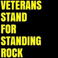 Mobilisierungsplakat der Veteranen für den Frieden zur Unterstützung des Sioux Widerstandes gegen die Dakota Pipeline am 4.12.2016