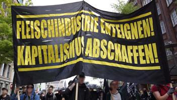 """Fleischindustrie enteignen - Kapitalismus abschaffen!"