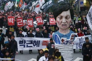 Korea: KCTU-Streikdemonstration in Seoul am 30.11.2016