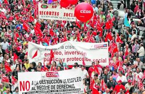 Die Opposition in den CCOO auf der Madrider Demonstration am 19. Dezember 2016