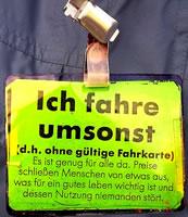 """Schwarzfahren: """"Ich fahre umsonst"""""""