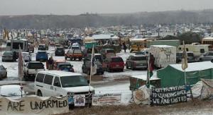Protestcamp der Standing Rock am 1.12.2016 - die Räumungsdrohung der Armee gilt zum 5.12