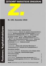 """Zeitschrift Marxistische Erneuerung """"Z"""" Heft 108 vom Dezember 2016"""