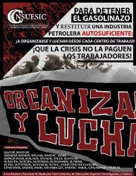 Mexiko: Mobilisierungsplakat von uni-Gewerkschaften gegen Benzinpreiserhöhung im Januar 2017