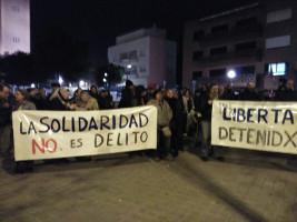 Demonstration vor der griechischen Botschaft in Madrid wegen der Festnahme zweier baskischer Aktivisten 26.12.2016