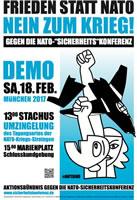 Münchner SIKO-Demonstration 2017: Frieden statt NATO – Nein zum Krieg!