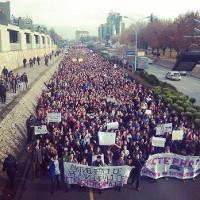 Größte Demonstration Mazedoniens - Studierende in Skopje 2016