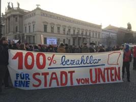 Stadt von unten - Berliner Mieter/Holm-Demo am 28.1.2017