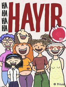 Frauenplakat zum Türkeireferendum Februar 2017