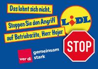 Das lohnt sich nicht. Stoppen Sie den Angriff auf Betriebsräte, Herr Hojer! Ver.di-Postkartenaktion (Februar 2017)