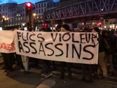 Eine der vielen Demos gegen Polizeiterror in Frankreich im Februar 2017