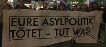 """""""Eure Asylpolitik tötet"""" - Demo am Flughafen München gegen die Abschiebungen am 220217"""