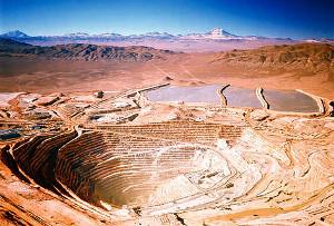 La Escondida grösste Kupfermine der Welt im Norden Chiles