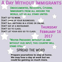 Tag ohne MigrantInnen in den USA am 16.2.2017