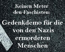 Keinen Meter den Faschisten: Gedenkdemo für die von den Nazis ermordeten Menschen (Dessau, 11. März 2017)