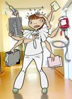 Die perfekte Pflegerin hat 10 Hände...